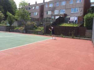 Ron hitting a 143mph serve (I'm pretty sure it was that fast but I might be remembering wrong)