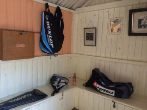 The ladies changing room